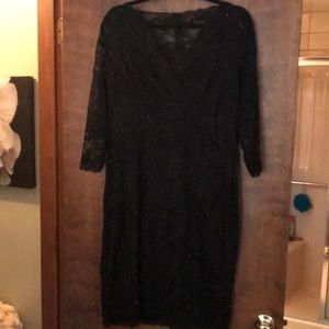 Dresses & Skirts - Black lace and beaded cocktail dress